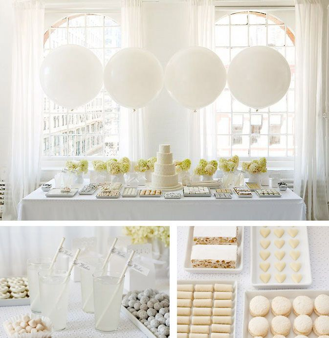 All white party - although this is a bridal shower it can work lovely for Christmas.