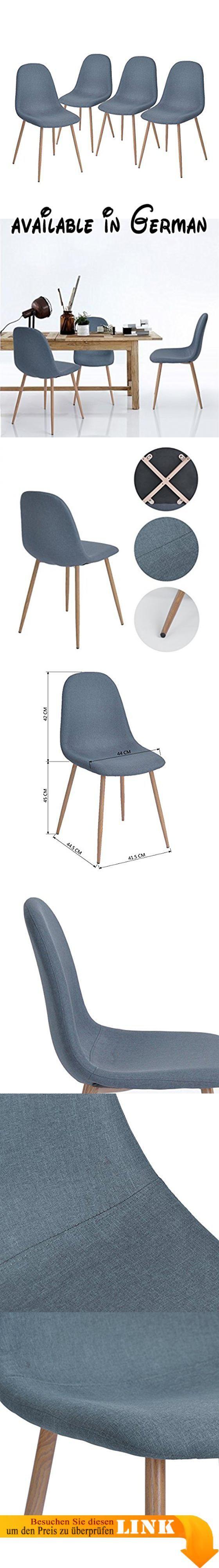 Stühle Skandinavischen Design Stuhl Gartenstuhl Stuhl Esszimmerstuhl Küche.  Zusammensetzung Des Set: Set Aus 4Stühlen. Maße: 44.5x 44x 87cm (ca.).