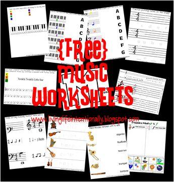 Labook libres y hojas de trabajo de música de música para niños en edad preescolar y de educación en casa