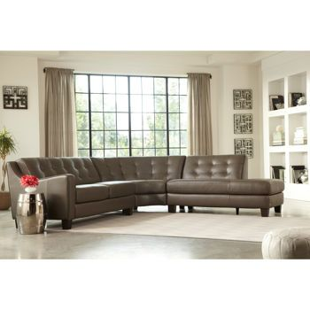 Blakely top grain leather sectional home pinterest for Andersen leather chaise sectional