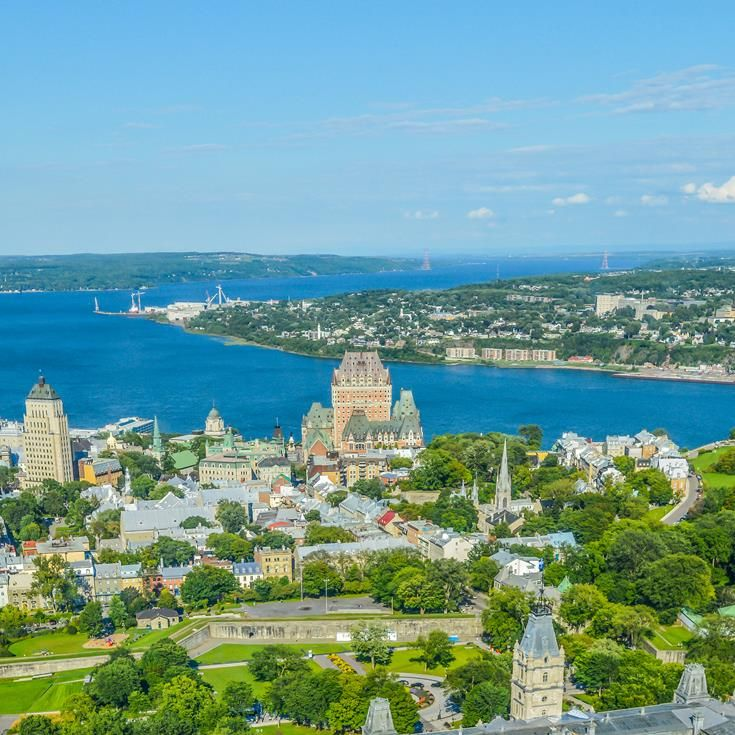 Views of Frontenac castle, Quebec