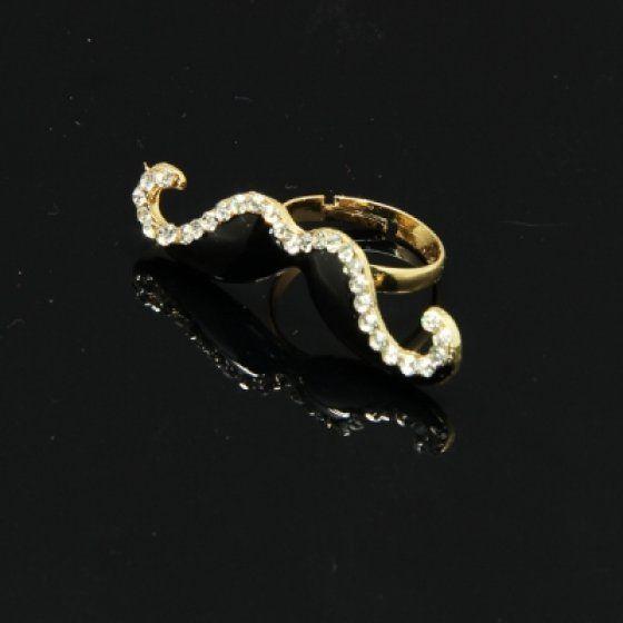 Gyűrű fém színes 7/D