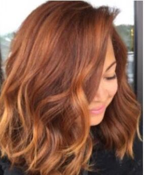 Beautiful red with strawberry blonde highlights