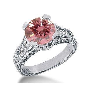 1.45 Karat Pink Diamant Ring aus 585er Weißgold. Ein Diamantring aus der Kollektion Pink von www.pearlgem.de