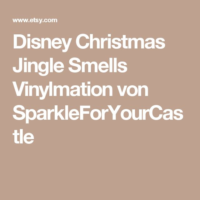 Disney Christmas Jingle Smells Vinylmation von SparkleForYourCastle