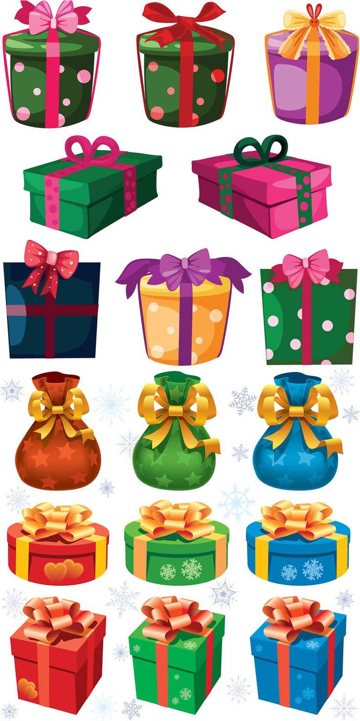 #Christmas presents templates #vector