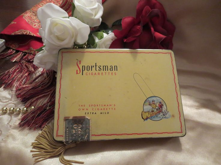 Vintage Sportsman Cigarette Tin Made in Canada by LilysOldAttic on Etsy