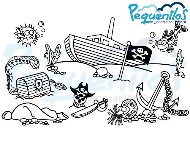 Pequenilos: Barco pirata hundido