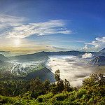 Morning Panorama view of Mount Bromo and Surrounding by Zexsen