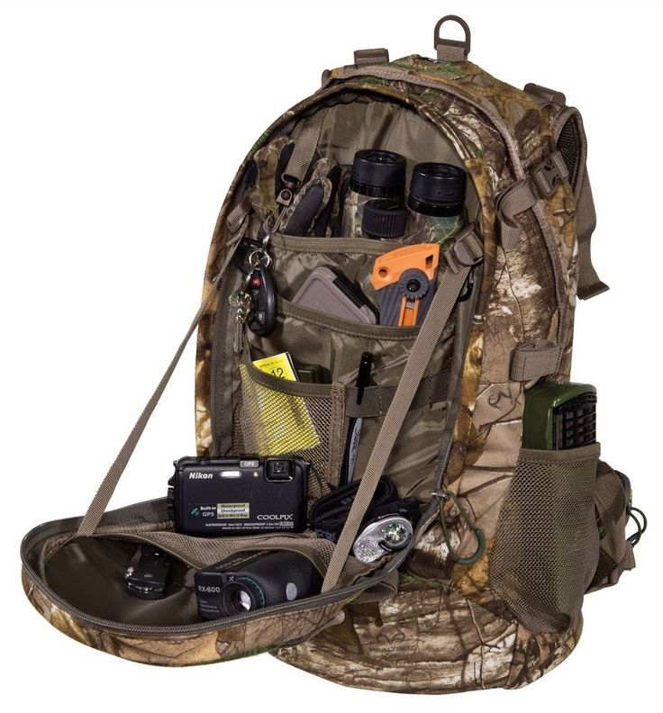 Hunting Backpack Bow Archery Rifle Hiking Camping Tactical Realtree Camo Bag NEW #ALPSMountaineering