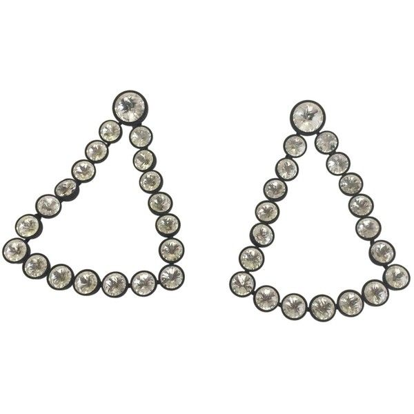 Pre-owned Céline Metal Earrings ($567) ❤ liked on Polyvore featuring jewelry, earrings, other, women jewellery earrings, triangle earrings, celine jewelry, pre owned jewelry, metal jewelry and preowned jewelry