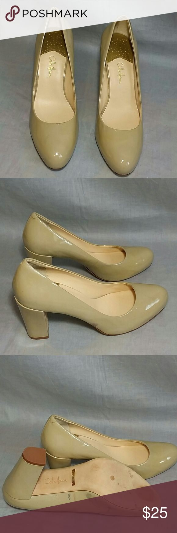 """Cole Haan Dress Shoes Beige 10.5 B Heels 3.75"""" NIKE AIR, Item has a sign of being used, please check the pictures but it's in a good condition, NO PETS AND SMOKE FREE HOME. Cole Haan Shoes Heels"""