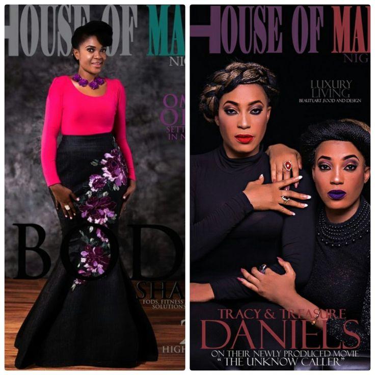 Omoni Oboli, Tracy And Treasure Daniels Stuns On The Cover Of House Of Maliq Magazine.