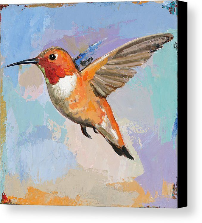 Hummingbird 7 Canvas Print Canvas Art By David Palmer Hummingbird Art Hummingbird Painting Hummingbird Painting Acrylic