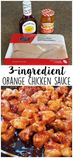 3-Ingredient Orange Chicken Sauce Recipe - This was SO easy and my husband requests it weekly!