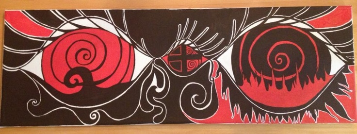Eyes of remember  Ink on canvas