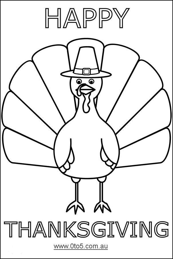 Printable turkey template happy thanksgiving turkey for Thanksgiving craft templates printable