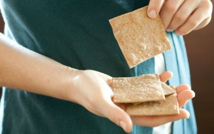 Quick Whole Wheat and Rye Crackers | Whole Foods Market: Crackers Recipe, Wheat Crackers, Food Marketing, Rye Crackers, Healthy Eating, Whole Food, Weights Control, Whole Grains, Simple Recipe