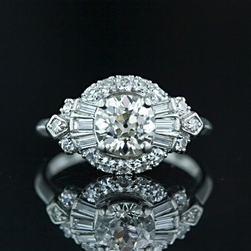 Art Deco Jewelry- Never lusted after an engagement ring... but I want this one!