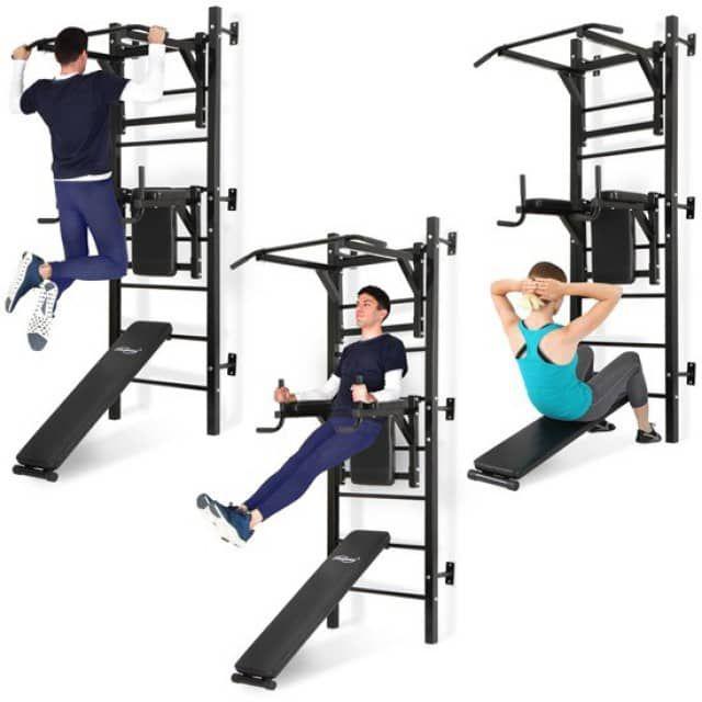 ProduktangebotInfos zum Produkt:ART.-NR.: SPSWD001A0000000 Vielfältiges Fitnessgerät für die Wandmontage Die Fitnessstudios regelmäßig zu besuchen kostet viel Zeit und Geld. Unsere Sprossenwand bietet Ihnen eine günstige Lösung. Sie können ab jetzt an unserem multifunktionalem Fitnessgerät ruhig trainieren. Hier erhalten Sie mehr Turngeräte in einem. So stehen Ihnen eine Dipsstation, eine Klimmzugstation und eine Sit-up Bank zur Verfügung. Die Handgriffe, die Rückenlehne und die Armlehnen…