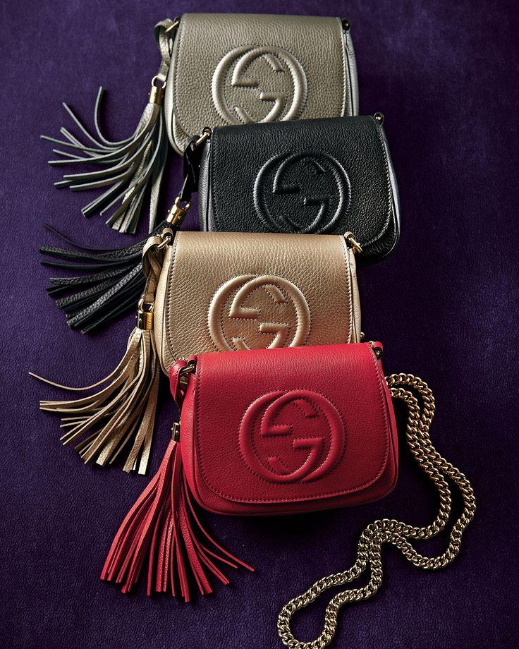 Gucci Soho Leather Chain Crossbody Bags