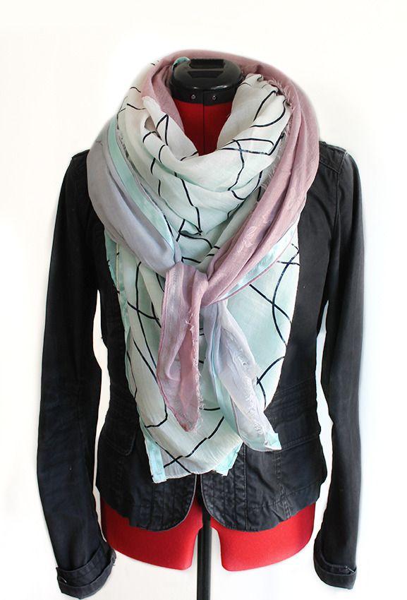 Grand foulard femme chic : Echarpe, foulard, cravate par vudalov