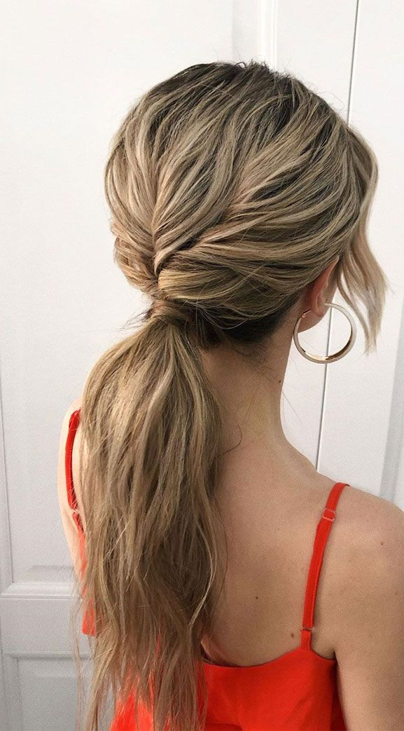 No fuss updo! No need to go all out date night and do some crazy-complicated hairstyle. these gorgeous ponytail hairstyles are also perfect for...