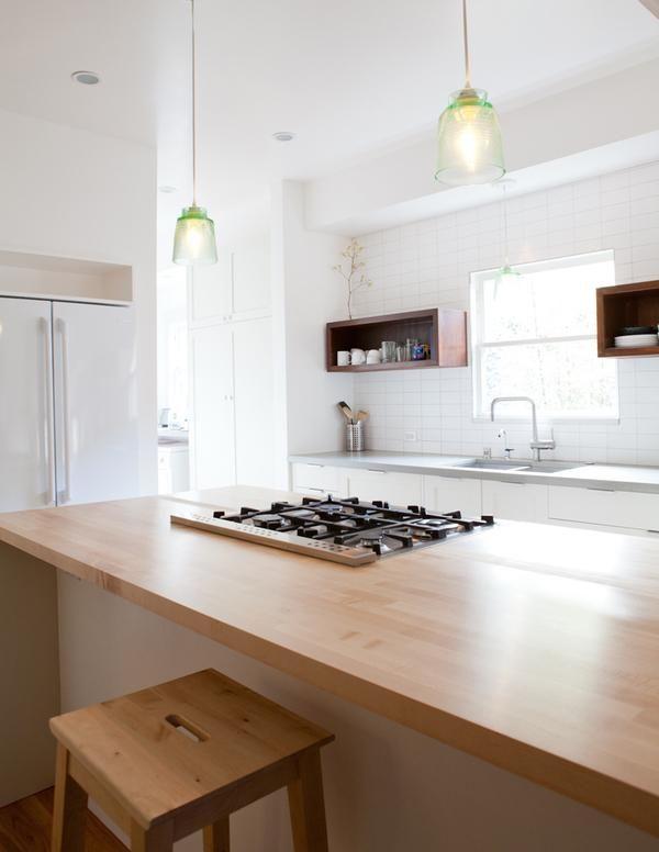 Medium Plenty introduce warmth with wood countertop in kitchen island, Remodelista