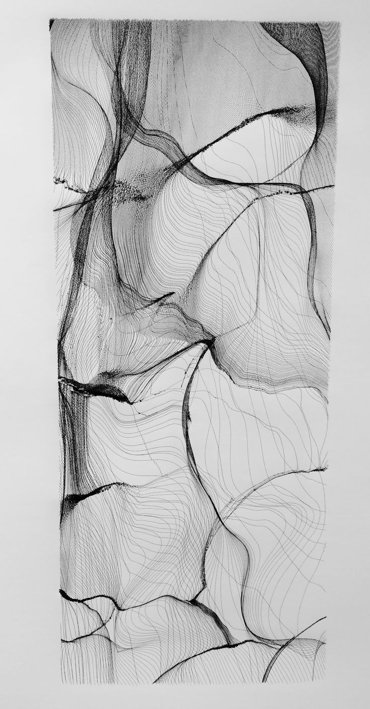 Generative Penplotter Drawing. Processing Sketch HP Draftmaster SX Liquid Ink