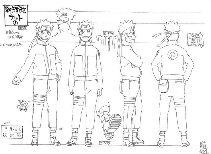 Naruto The Last Character Design Color : Naruto reference sheet manga tutorials pinterest