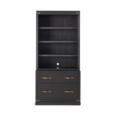 "Tremont Modular 40"" Bookcase in Dry Branch Black"