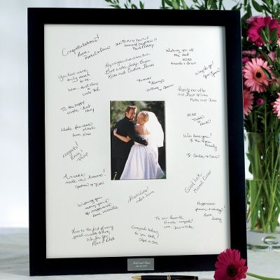wedding guest book picture frame sign able picture frame
