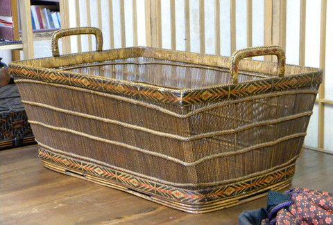 OT12  Antique Carrying Basket, Thailand
