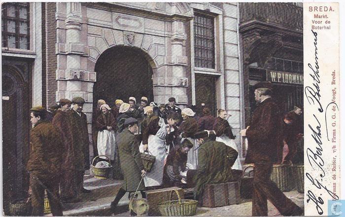 Breda - Boterhal Grote Markt - 1900