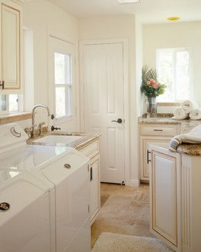 Love the cream color of the cabinets and the countertop!   Bathrooms - traditional - laundry room - san diego - by Marrokal Design & Remodeling