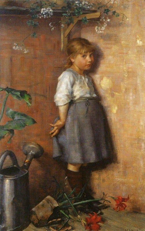 """""""Huono omatunto"""" by Maria Wiik (1853-1928)"""