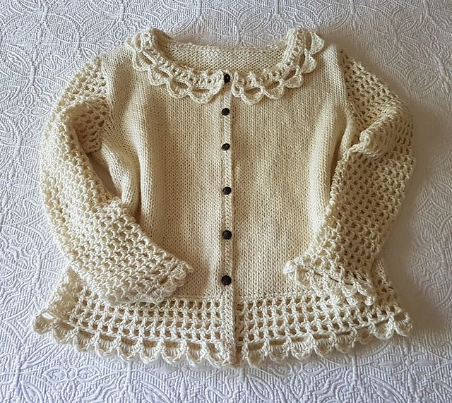 Ravelry: Lovely Lacey Cardigan pattern by Barb Padwicki