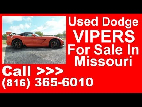 Dodge Vipers For Sale in MO | Call CHRIS @ (816) 365-6010 | 2008 Dodge Viper SRT10 ACR For Sale in Missouri