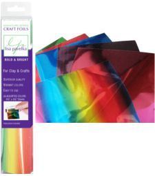 "Lisa Pavelka Foil Packs - Bold and Bright Six Assorted Colors per Pack. Each Sheet is 4 3/4"" by 8 1/2"". Bold and Bright has the following colors: Blue, Purple, Red, Rainbow, Magenta, Green $6.00"