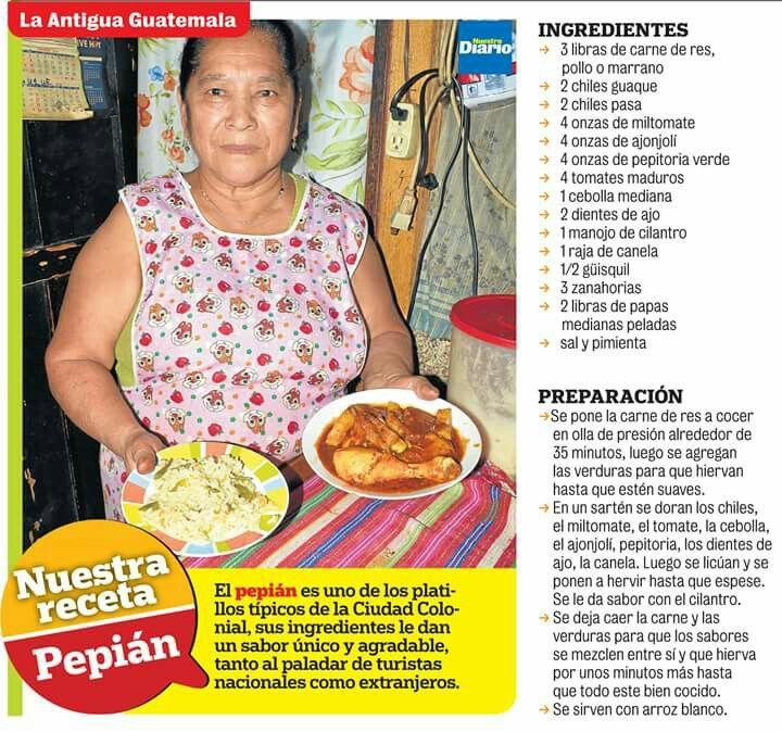 Pepian Platillo típico de Guatemala