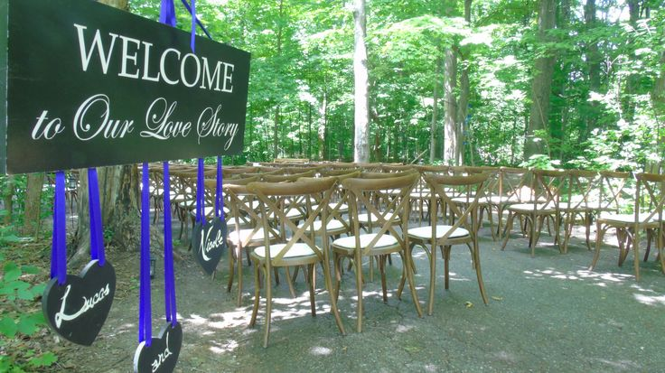 Ceremony decor at Cathedral of Trees site