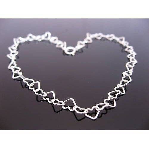 sterling silver hearts bracelet by clutch and clasp | notonthehighstreet.com £15 for childs £16.95 for adults