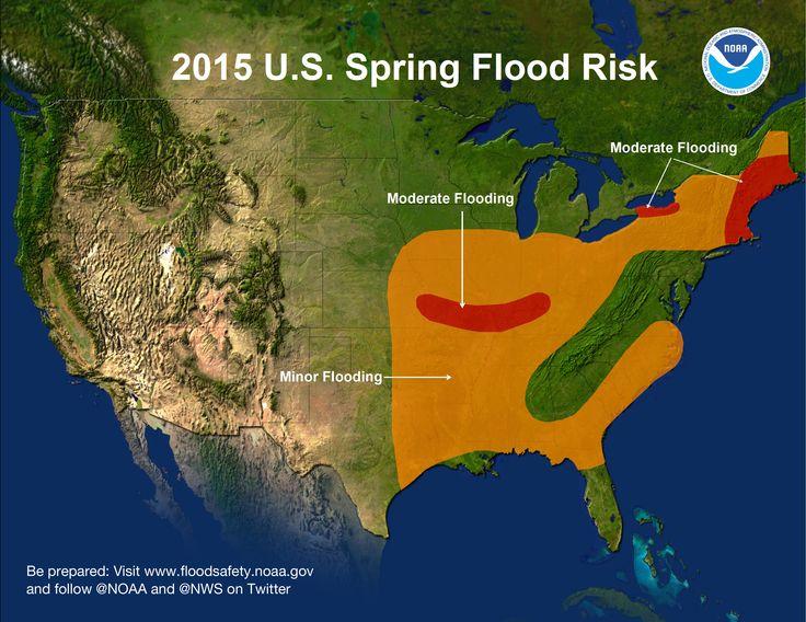U.S. Spring Flood Risk Map for 2015. (Credit: NOAA)