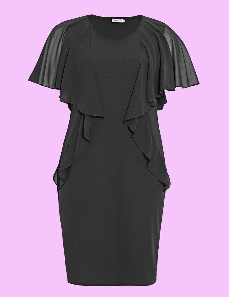 Plus Size Kleid für mollige Damen, elegantes Kleid in Gr 46