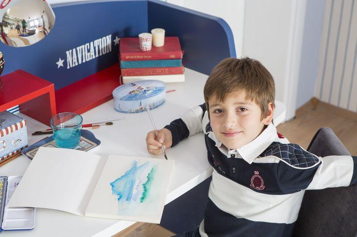 #Newjoy Nautica Oda www.newjoy.com.tr... #nautica #erkek #erkekçocuk #oda #room #kidroom #çocukodası #mavi #denizci #mobilya #tasarım #yatak