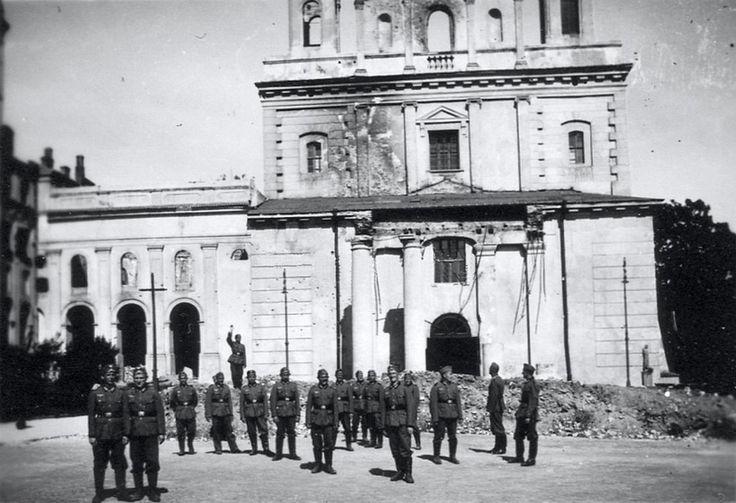 Lublin, okupanci na Placu Katedralnym