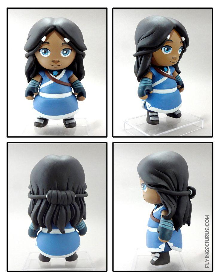 Avatar the Last airbender Katara custom munny by FlyingSciurus.deviantart.com on @deviantART