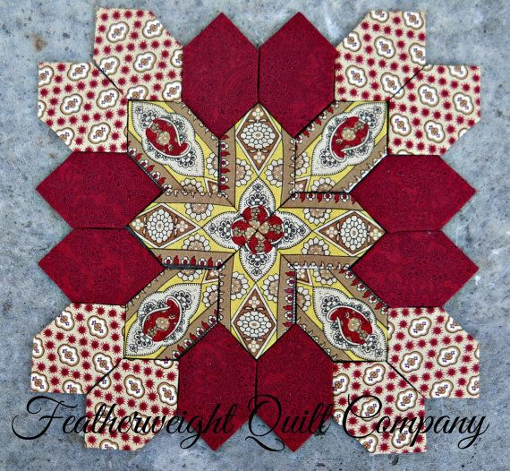 This is a fantastic block with at least 5 different layouts! Sew fun. This listing is for the FABRIC and 25 - 1 honeycomb paper pieces to
