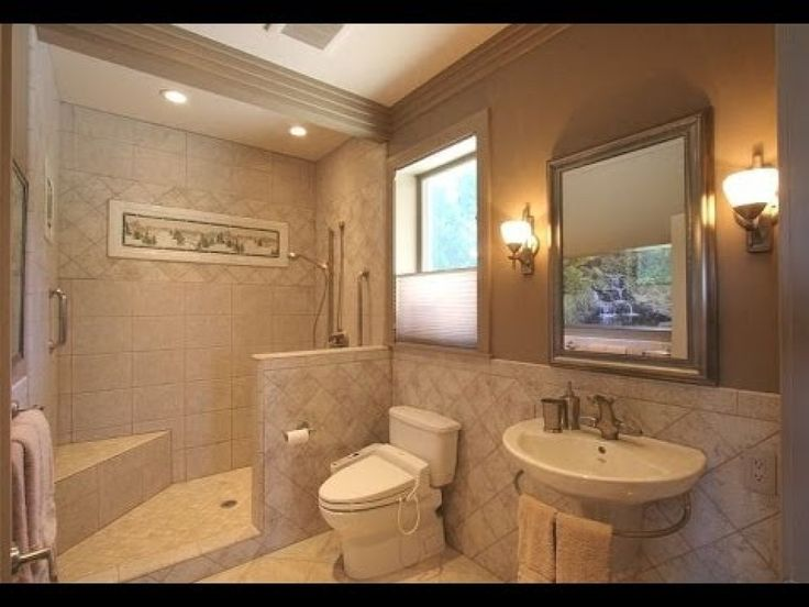 14 best shower drain ideas images on pinterest bathroom for Wheelchair accessible bathroom designs