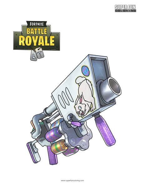 Fortnite Egg Launcher Coloring Page Super Fun Coloring Pages